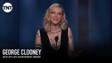 Cate Blanchett Speaks to George Clooney AFI 2018 TNT