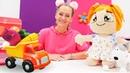 Wir lernen englische und deutsche Wörter - Das Gemüse - Spielzeugvideo für Kinder