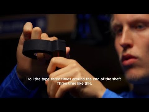 NHL players tape their stick tutorial feat Laine Kane Kucherov Eichel