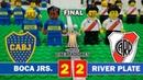 Boca juniors 2 - 2 River Plate - Final Copa Libertadores - Fútbol LEGO - Resumen y Goles 11/11/2018