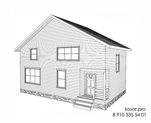 Одноэтажный дом с мансардным этажом 5022