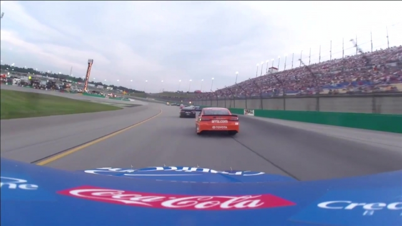 42 - Kyle Larson - Onboard - Kentucky - Round 19 - 2018 Monster Energy NASCAR Cup Series
