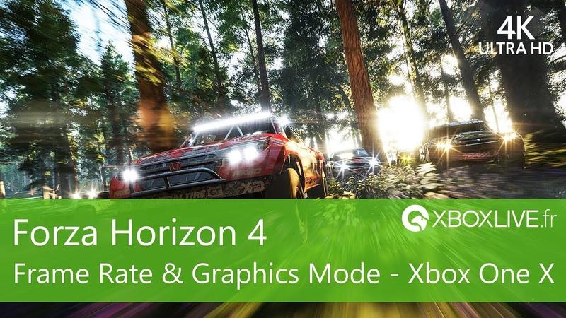 [4K60] Forza Horizon 4 - Frame Rate et Comparaison Graphique - Xbox One X