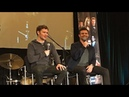 Daniel Gillies singing beside Joseph Morgan at The Originals panel in Seattle