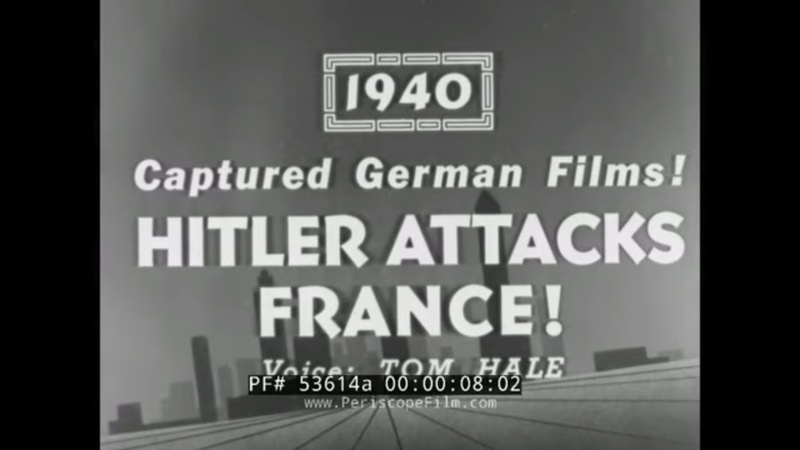 YESTERDAY'S NEWSREEL GERMAN INVASION OF FRANCE 1940 LUNA PARK CONEY ISLAND ANNIE OAKLEY 53614a