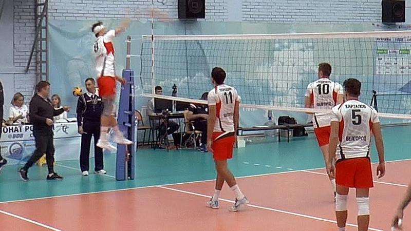 Волейбол. Нападающий удар. Павел Тетюхин и команда Белогорье Белгород