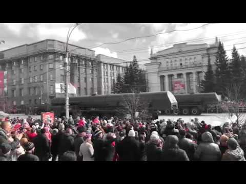 Парад войск Новосибирского гарнизона на площади Ленина