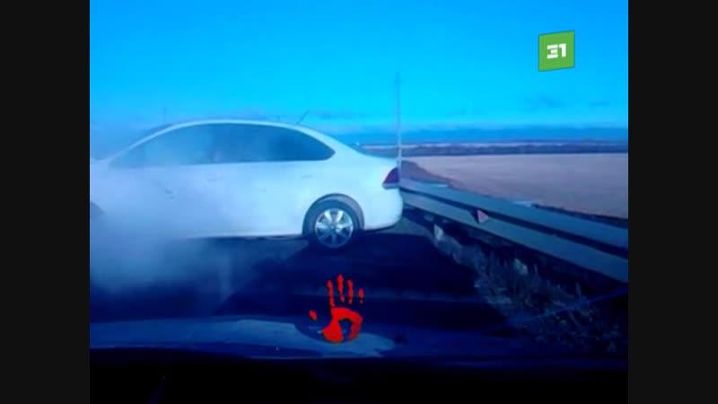 Женщина на Kia Optima врезалась в Volkswagen Polo
