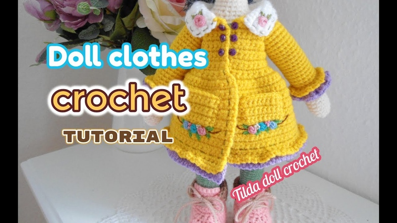 How to crochet Tilda doll dresses Large doll clothes