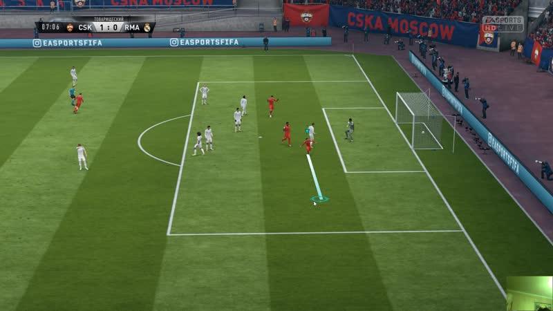 Игра с Реал Мадридом с 1-4 уровнями игроков.