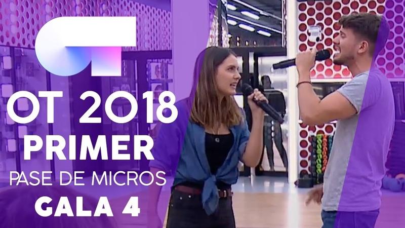 ESTRELLA POLAR CARLOS y SABELA Primer pase de micros Gala 4 OT 2018