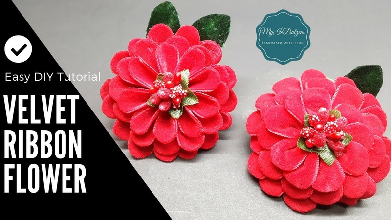 D.I.Y. Velvet Ribbon Flower | MyInDulzens
