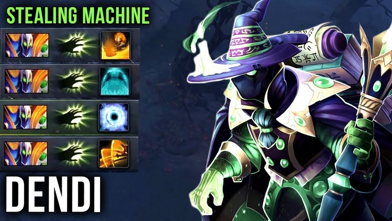 Dendi Rubick Stealing Machine with Arcana, One EPIC Game = a Lot of Ultimates Stolen - Dota 2
