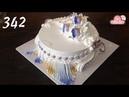 Chocolate cake decorating buttercream ( 342 ) Cách Làm Bánh Kem Đơn Giản Đẹp - Tím Vàng ( 342 )