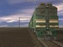Тепловоз 2ТЭ116-1044 в Trainz Simulator 2010