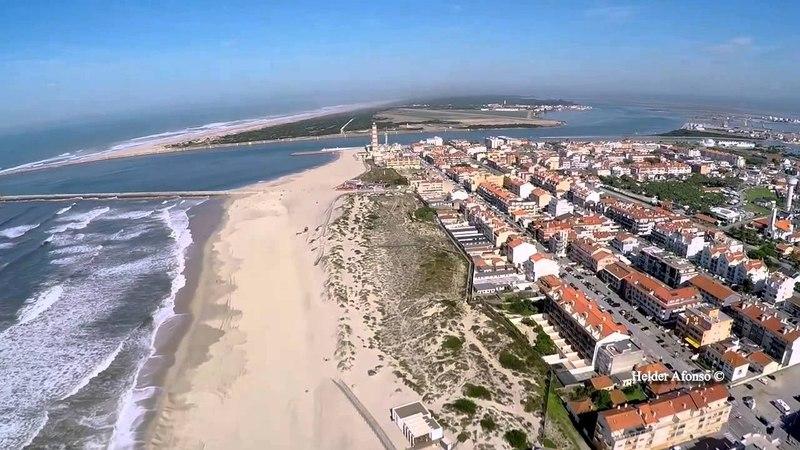 Португалия Пляжи Авейру с высоты птичьего полета