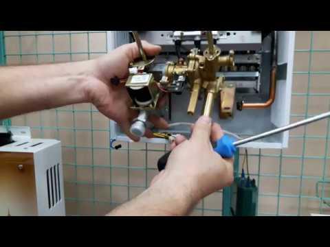 Снимаем водно-газовый узел с газовой колонки. How to remove a water-gas unit from gas water heater?