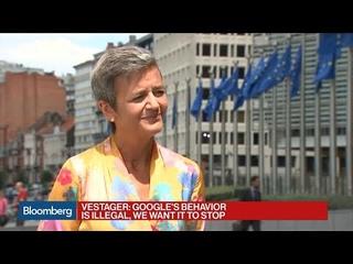 EU's Vestager on Record $5 Billion Google Fine in Android Probe
