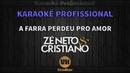 Zé Neto e Cristiano - A FARRA PERDEU PRO AMOR - Karaokê Profissional Versão Vithor Hugo Studios