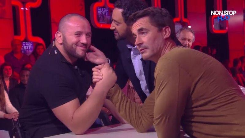 Mokhtar Guetari et Olivier Minne s'affrontent au bras de fer