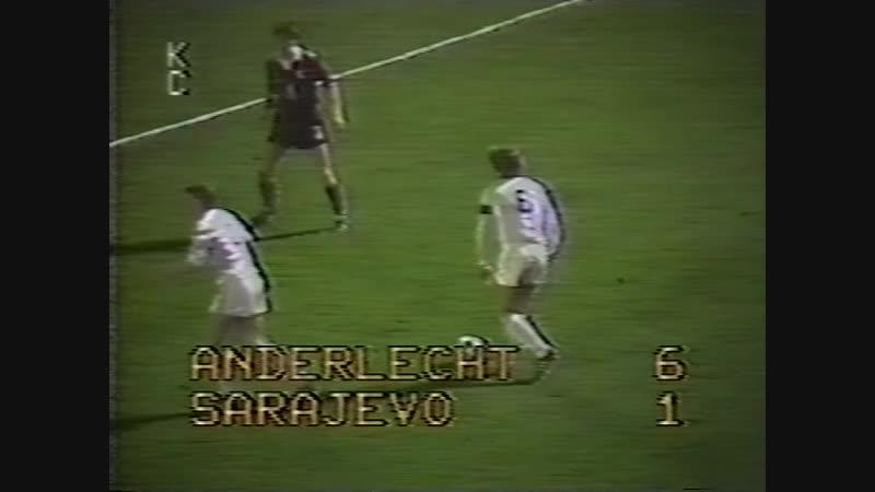 97 UC-19821983 RSC Anderlecht - FK Sarajevo 61 (24.11.1982) HL