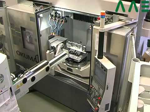 CNC 5 axis milling center MU-500A with Erowa ERS-Robot.FLV