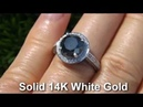 Exotic Black Diamond Engagement Ring Solid 14K Gold