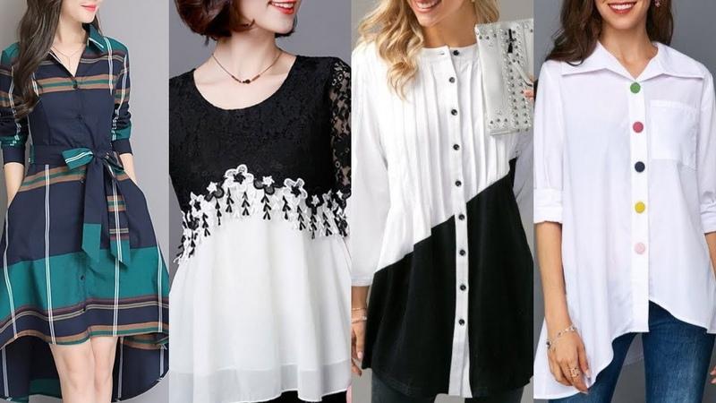 Latest Winter Short Stylish Shirts Dress Design ideas For Girls 2019