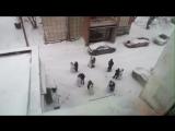 Нарядные пермяки танцуют на улицах города
