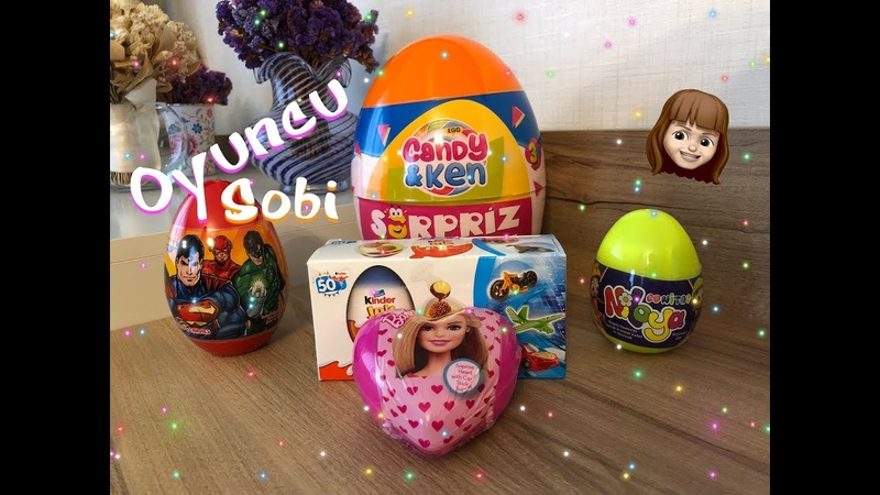 Kinder Joy, Barbie, Süper Kahramanlar, Niloya ve Candy Ken Dev Sürpriz Yumurtalarını Açıyoruz!