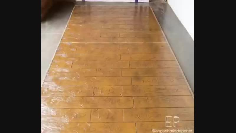 Технологии декоративного бетона - Штампованный бетон