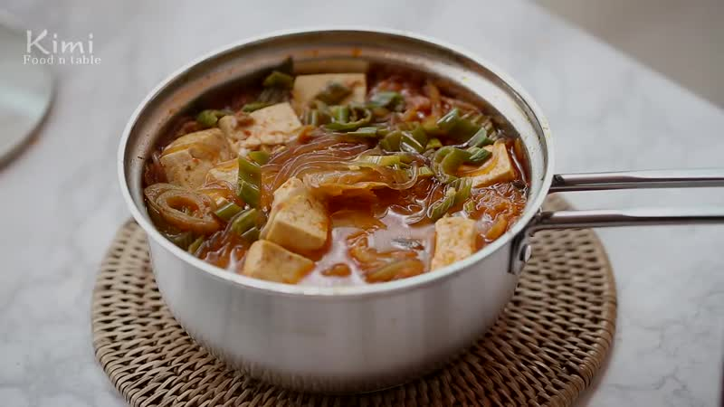 집밥 _ 참치 김치찌개 Korean Food, Kimchi Stew(Jjigae) Recipe with tuna _ 키미(Kimi)