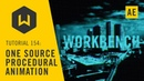 Make complex procedural animations with one source - Tutorial 154: One Source Procedural Animation