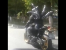 Черный всадник на улицах Ростова
