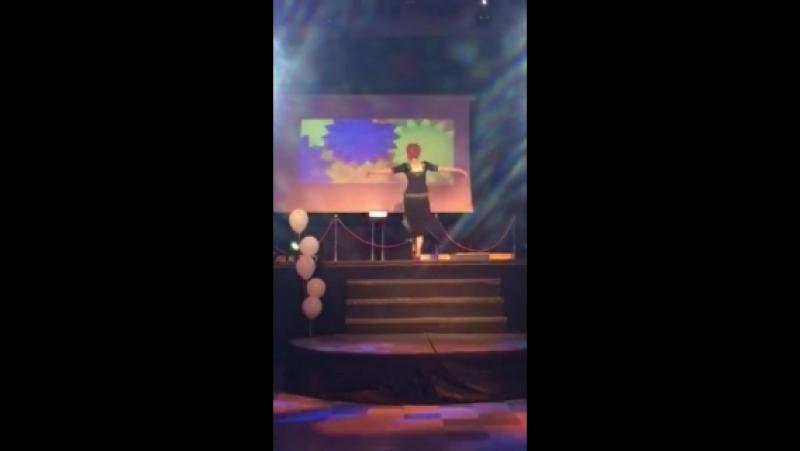 Мой танец на концертной программе для выпускников