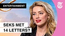 Sexy outfit Amber Heard erg oncomfortabel