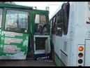 Иркутск 25.09.2018 Момент столкновения трамвая и автобуса последствия