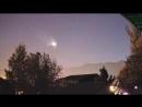 Огненный шар над Вайомингом 22 сентября 2018.