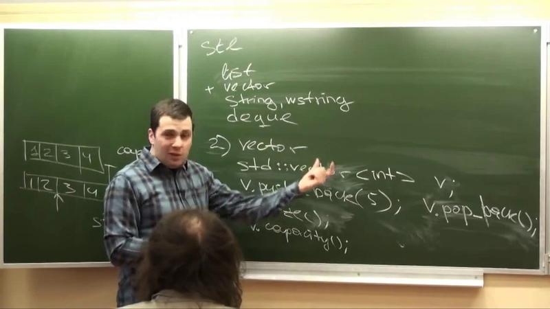 Программирование на C, часть 2 | Лекция 4 | STL | Последовательные контейнеры | Итераторы
