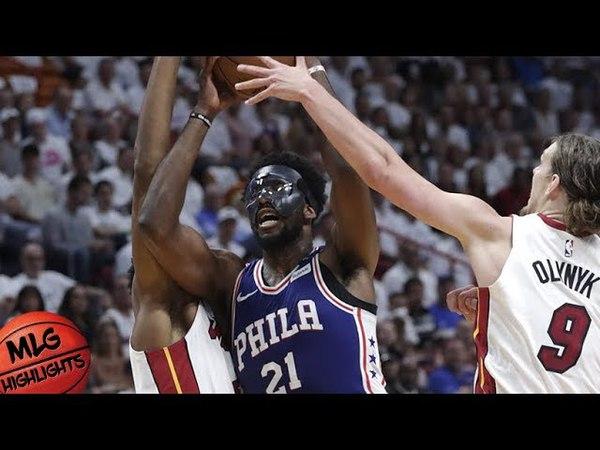 Полный обзор Майами - Фила | Восток 1-ый раунд | 3-я игра серии | Плей-офф НБА 2018 (19.04.2018)