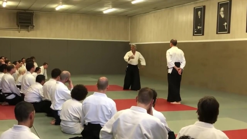 Aïkido- Kata dori, Bruno Gonzalez daily evening class at Cercle Tissier, April 2018.mp4