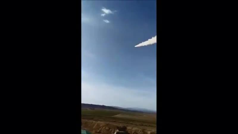 Пуск зенитной ракеты комплексом Бук-М2