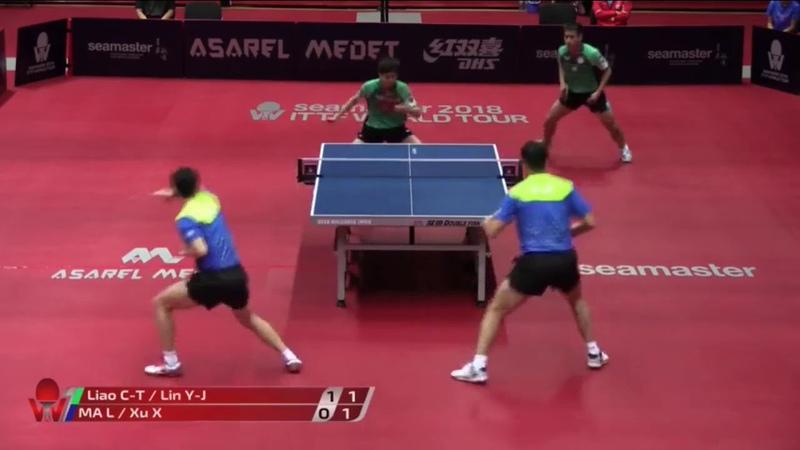 Ma LongXu Xin vs Liao Cheng-TingLin Yun-Ju | 2018 Bulgaria Open Highlights (12)