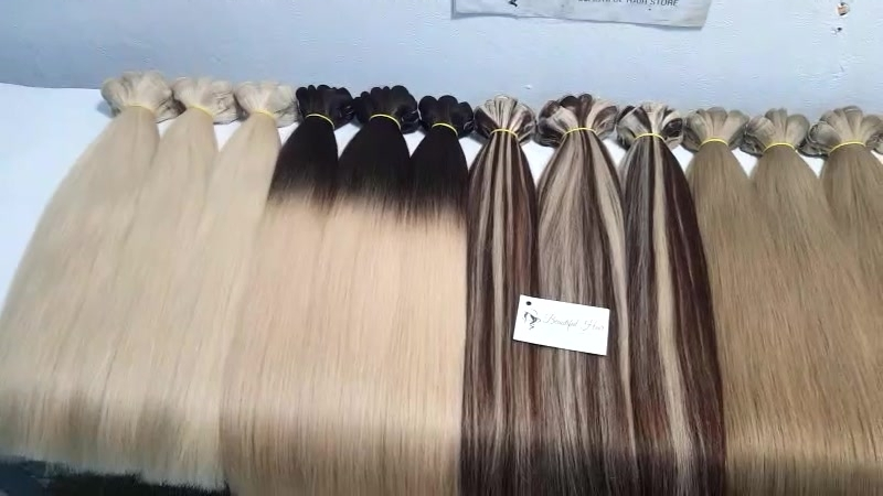 Straight weft hair_double drawn quality