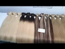 Straight weft hair double drawn quality