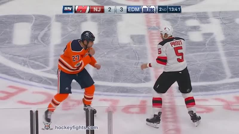 NHL Fight Dalton Prout vs Milan Lucic Nov. 3, 2017 Хоккейные драки