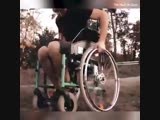 Old school wheelchair to cool motor off-road wheelchair