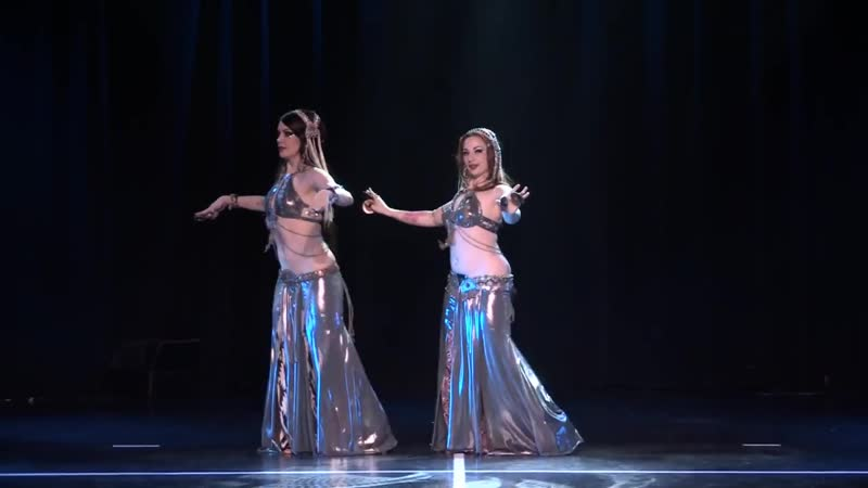 Zoe Jakes and Ashley Lopez perform bellydance with zills at The Massive Spectacular!