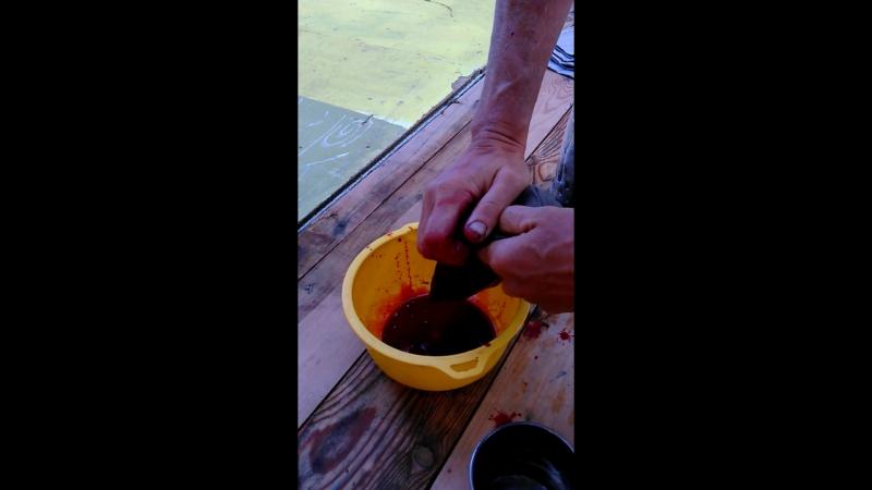 Черешневый сок из соковыжималки Пифагора