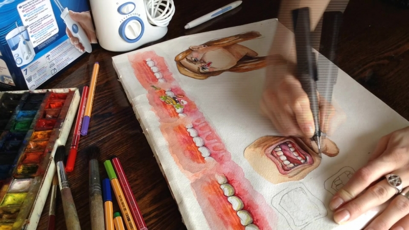 Making of - waterpik cartoon